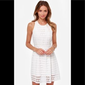 BB Dakota Adree White Lace Dress